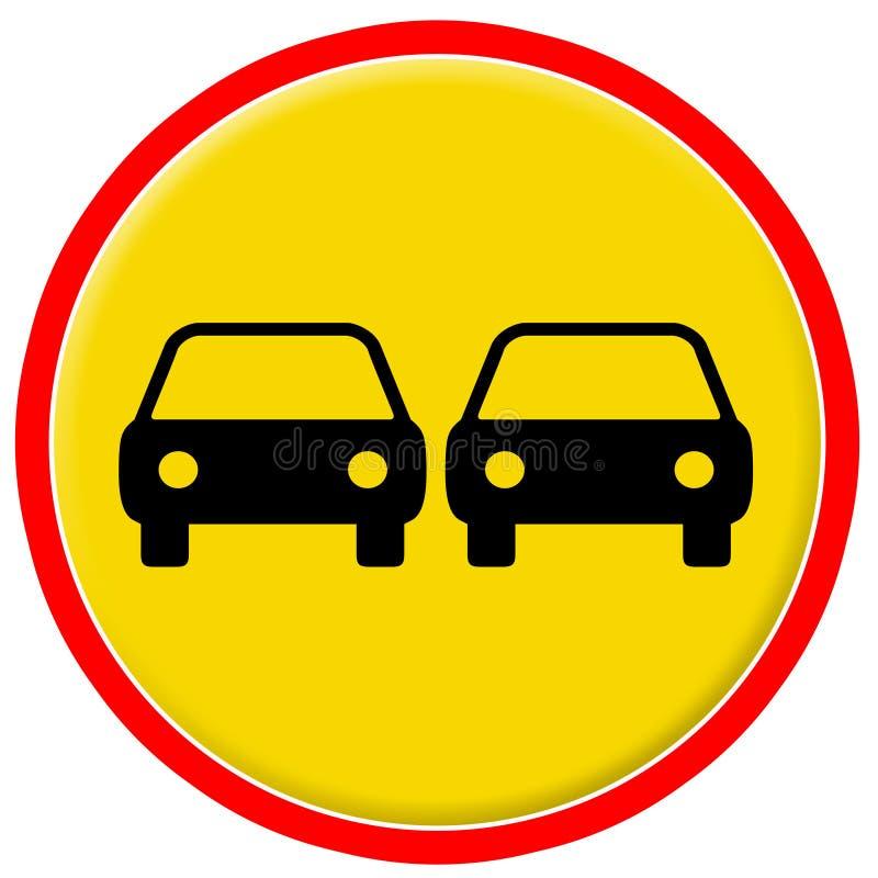 Verkeersteken 14 stock illustratie