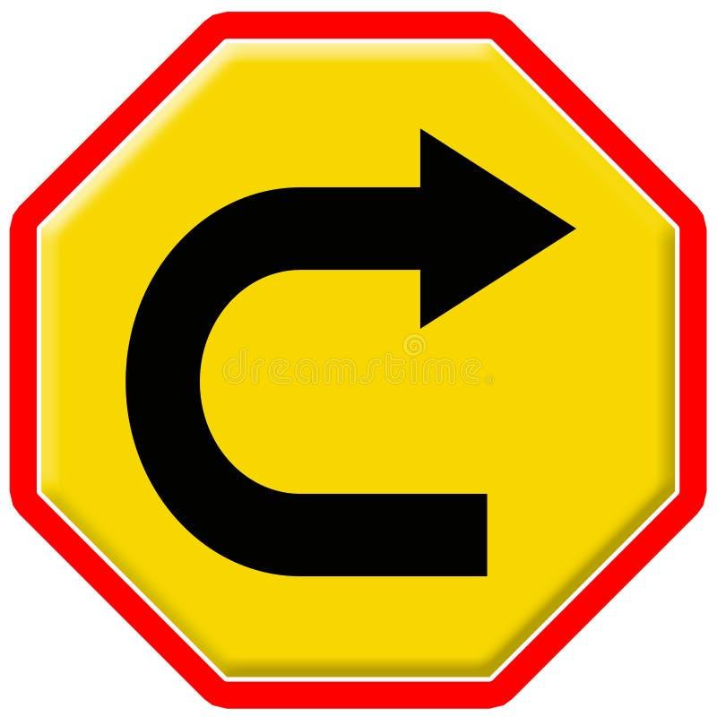 Verkeersteken 16 stock illustratie