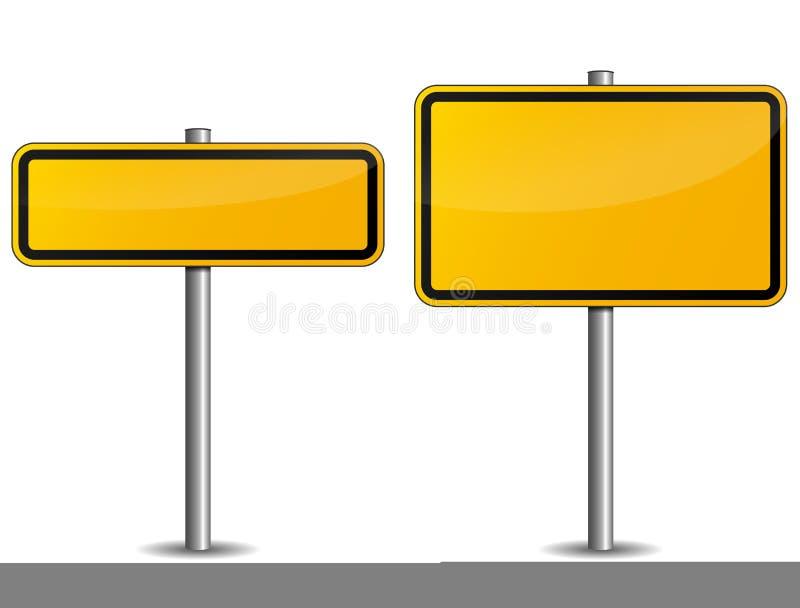 Verkeersteken royalty-vrije illustratie