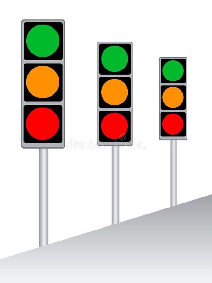 Verkeersteken stock illustratie