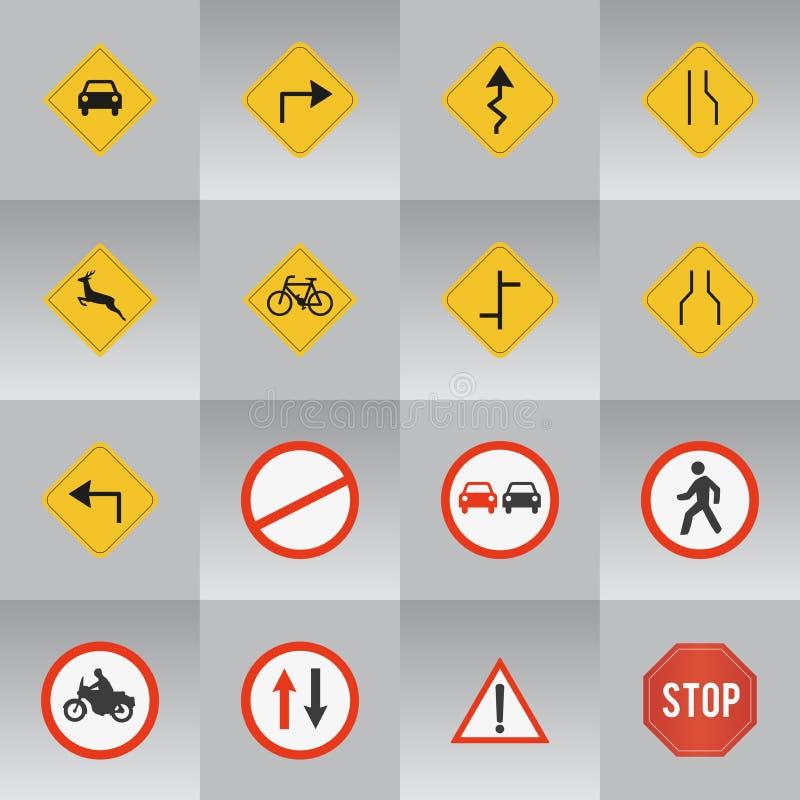 16 verkeersteken stock foto