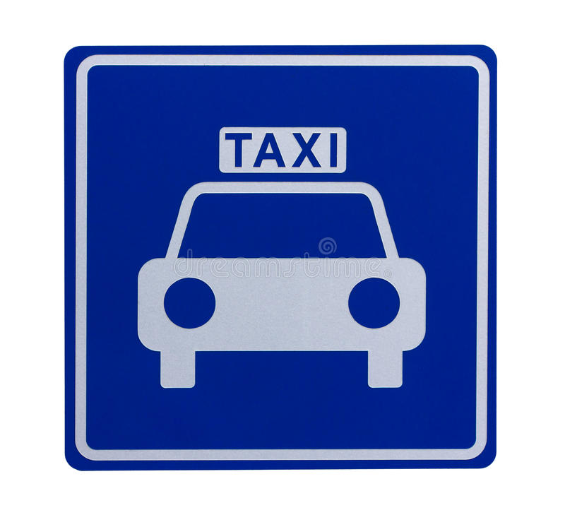 Verkeersteken die op een taxitribune wijst stock afbeeldingen
