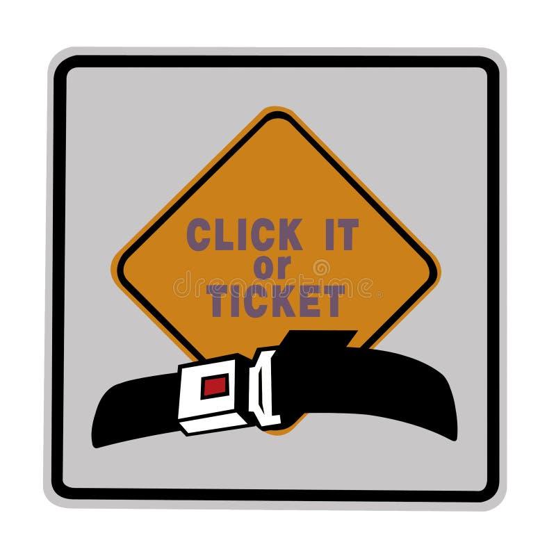 Verkeersteken - klik het of kaartje royalty-vrije illustratie