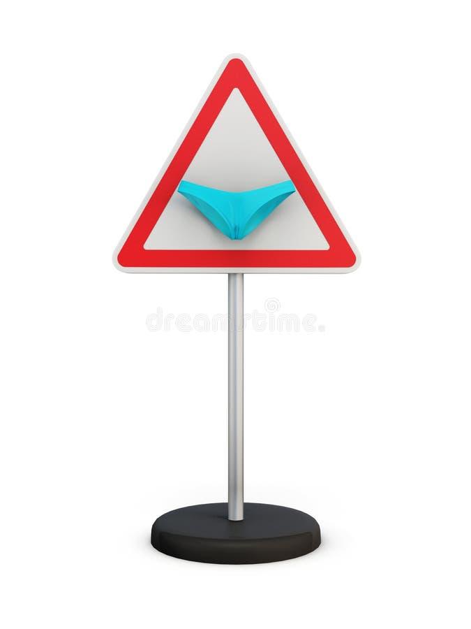 Verkeersteken met een bikini vector illustratie