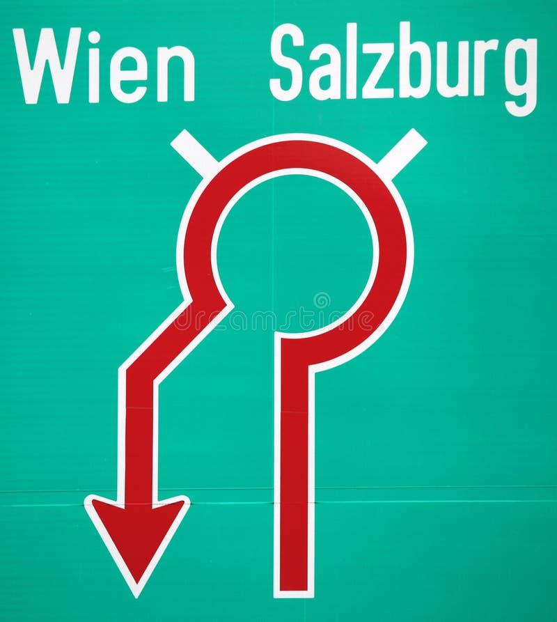 Verkeersteken in Oostenrijk stock foto's
