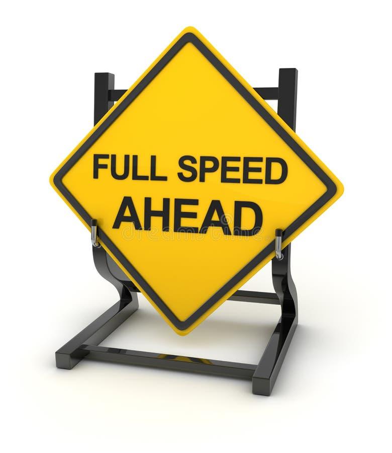 Verkeersteken - volledige snelheid vooruit stock illustratie