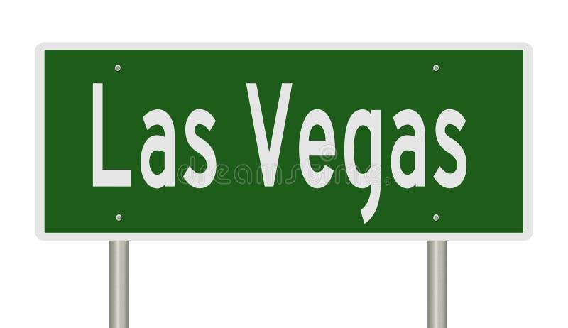 Verkeersteken voor Las Vegas Nevada royalty-vrije illustratie