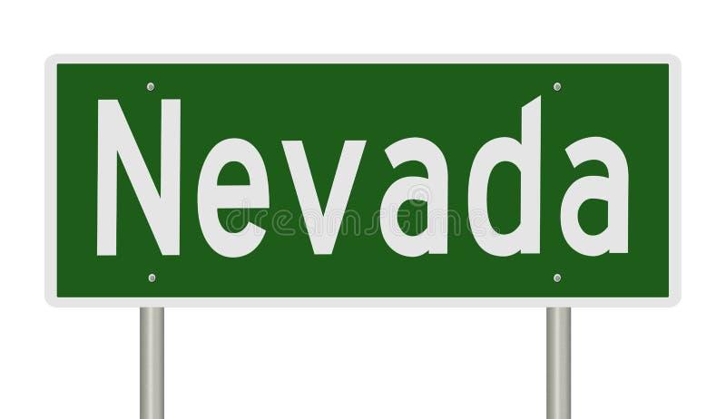 Verkeersteken voor Nevada stock illustratie