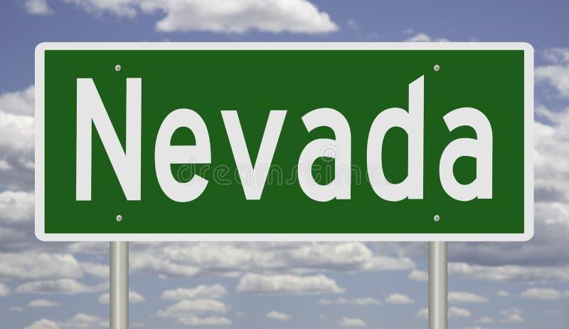 Verkeersteken voor Nevada royalty-vrije illustratie