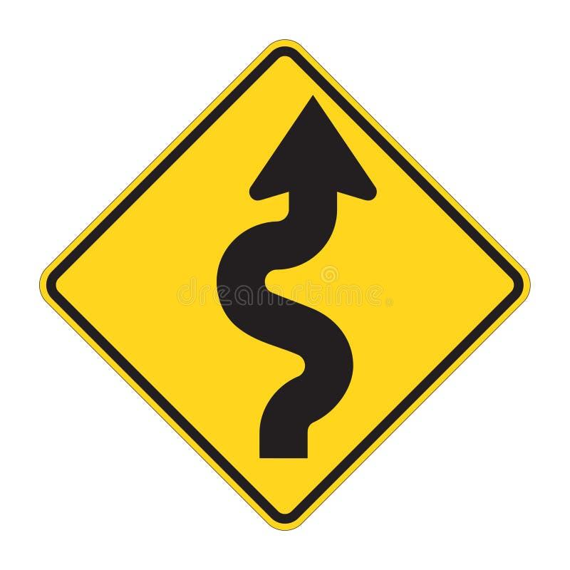 Verkeersteken - Zigzag stock illustratie