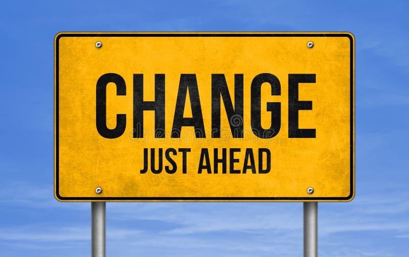 Verkeerstekenbericht - Verandering vooruit royalty-vrije stock foto's