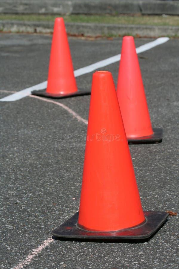 Verkeersveiligheidskegel stock foto's