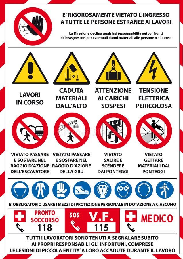 Verkeerswaarschuwingsbord royalty-vrije illustratie