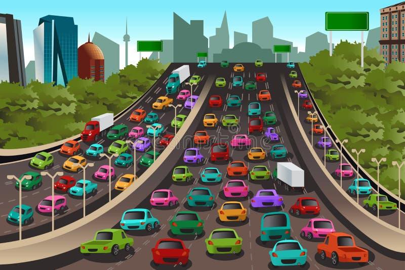Verkehr auf einer Datenbahn lizenzfreie abbildung