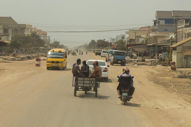 Verkehr in Bavet, Kambodscha stockfotografie