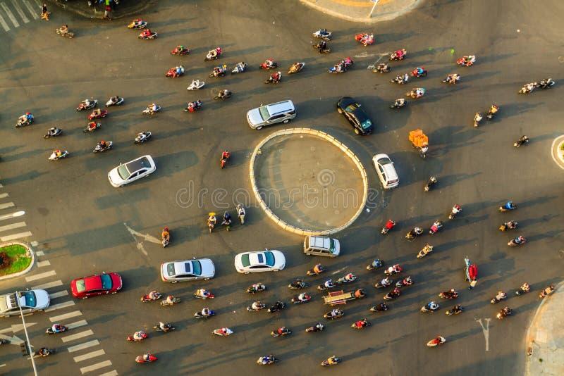 Verkehr in Danang lizenzfreie stockfotos