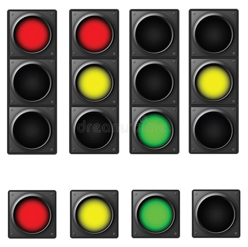 Verkehr-Leuchte vektor abbildung