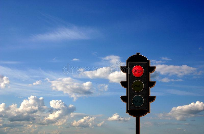 Verkehr-Leuchte Konzept lizenzfreies stockbild