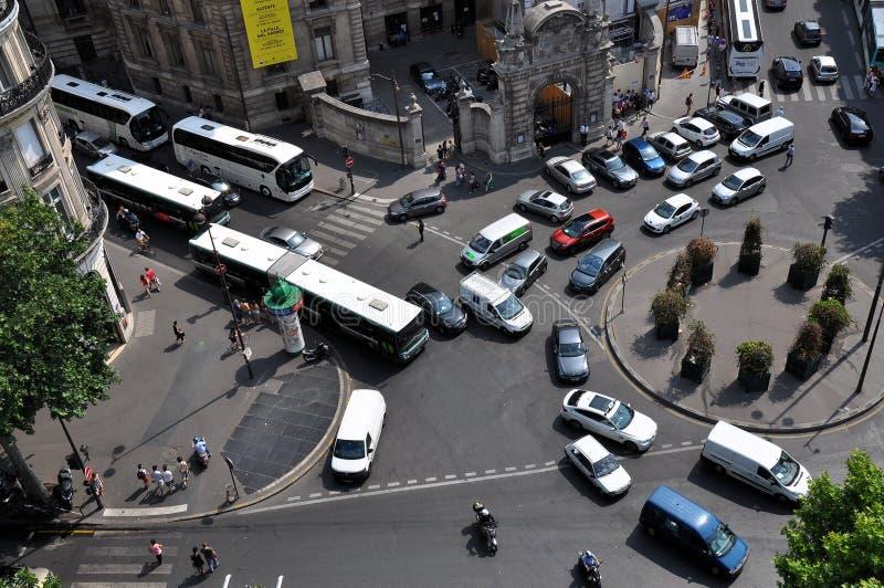 Verkehr in Paris lizenzfreies stockfoto