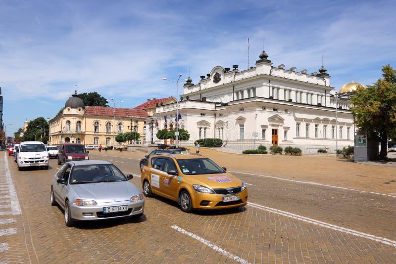 Verkehr in Sofia, Bulgarien lizenzfreie stockbilder