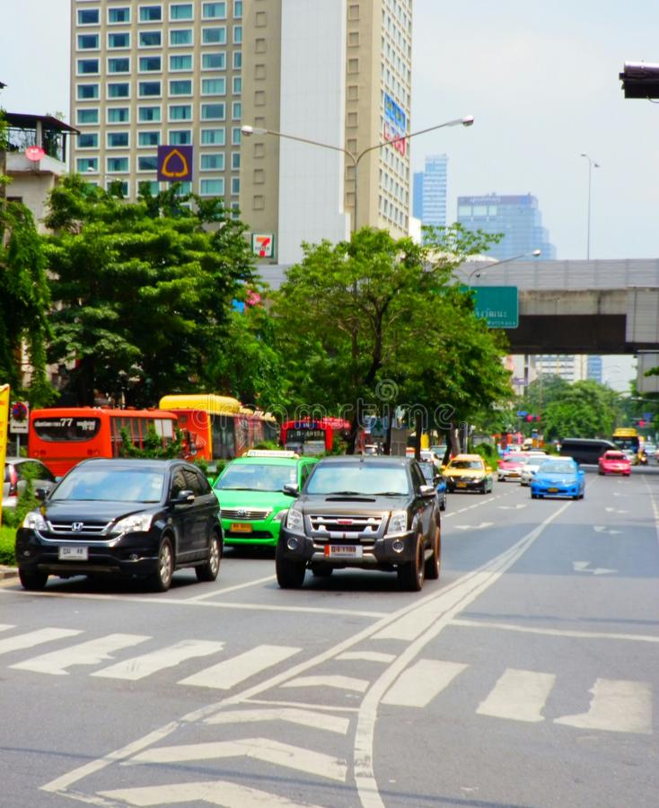 Verkehr in Thailand stockfoto