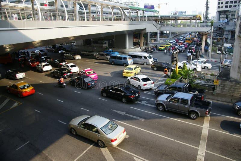 Verkehr von Bangkok, Asien lizenzfreie stockbilder