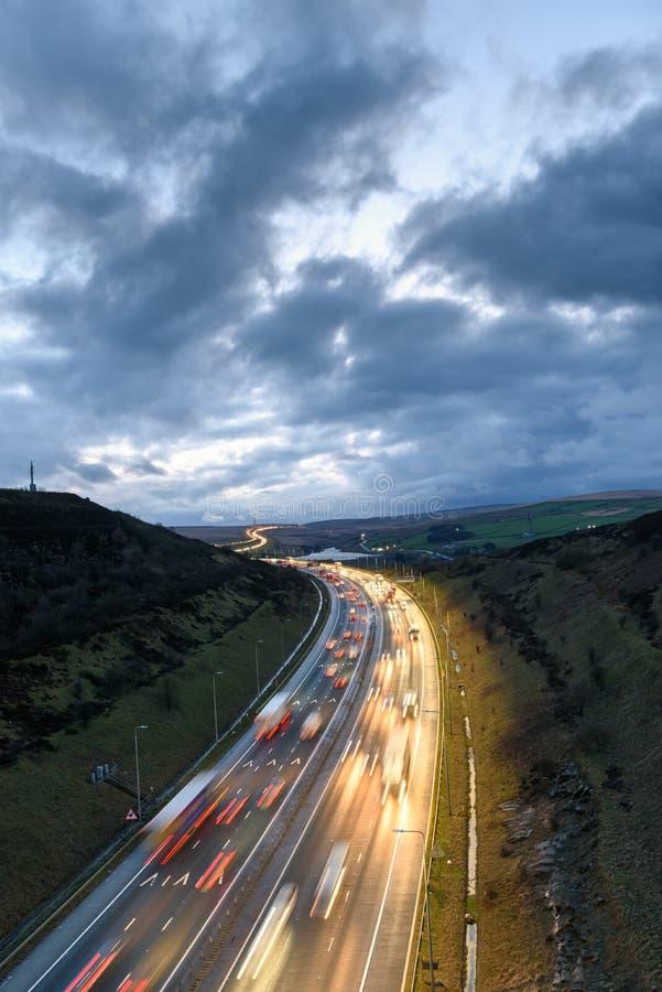 Verkehr West Yorkshire, England, Großbritannien stockfoto