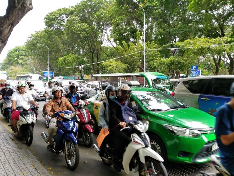 Verkehr zu Ho Chi Minh Vietnam stockbild