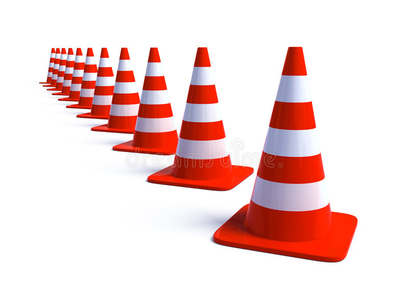 Download Verkehrs-Kegel 3 stock abbildung. Illustration von sicherheit - 9078242