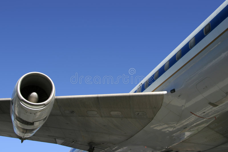 Verkehrsflugzeug-Detail lizenzfreies stockbild