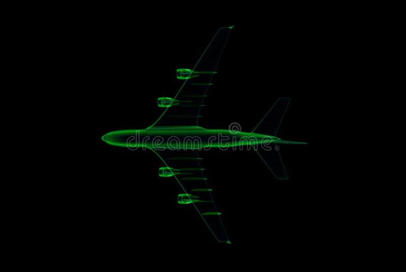 Verkehrsflugzeugcomputerlichtpause stock abbildung
