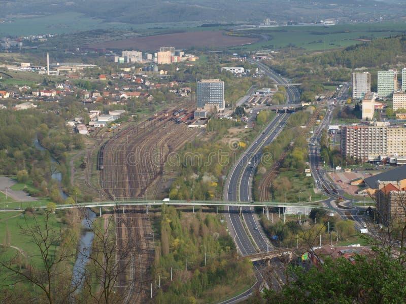 Verkehrsinfrastruktur der Stadt lizenzfreies stockfoto
