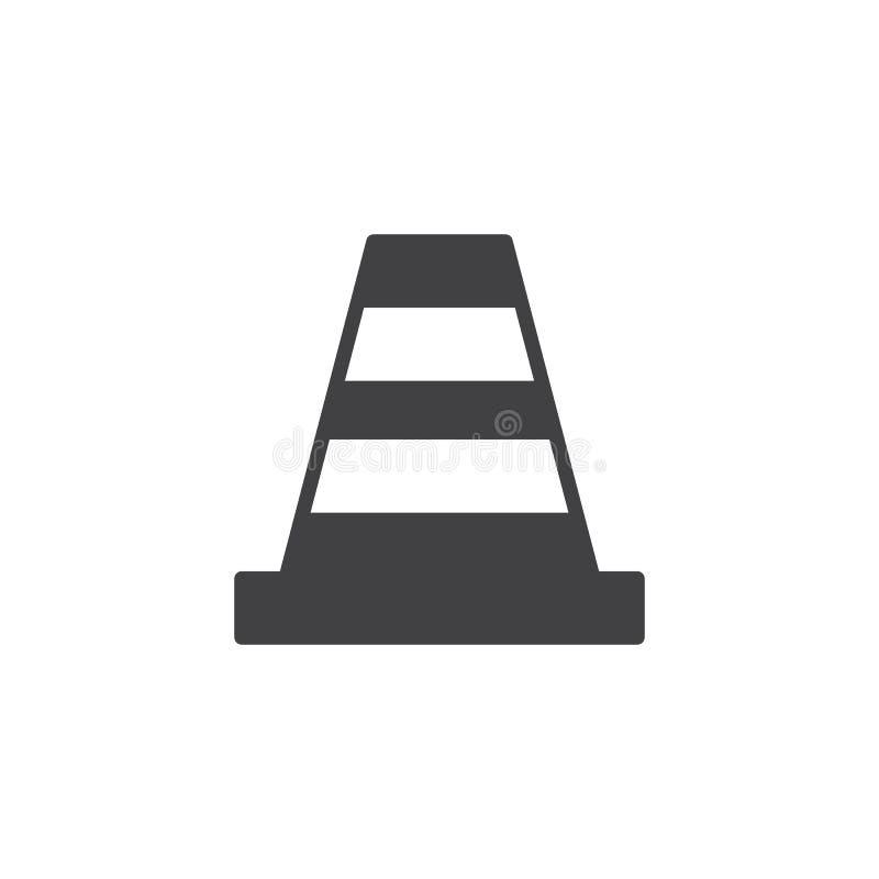 Verkehrskegel-Ikonenvektor stock abbildung