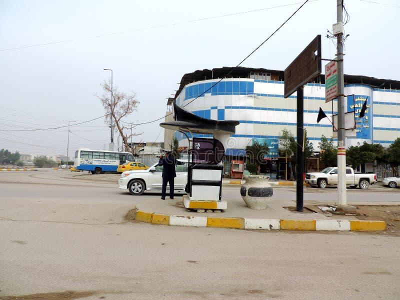 Verkehrskontrolleposten auf den Straßen von Nadschaf lizenzfreies stockbild