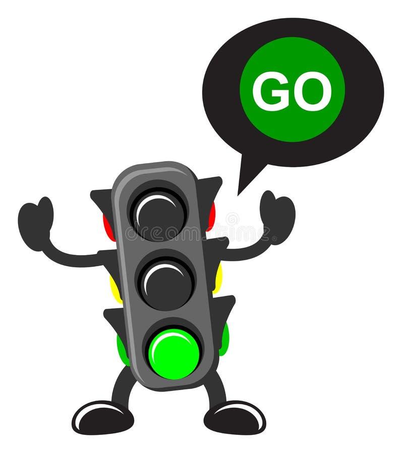 Verkehrslampe vektor abbildung