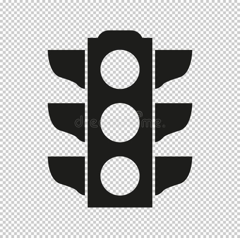 Verkehrslichtsignal - schwarze Vektorikone vektor abbildung