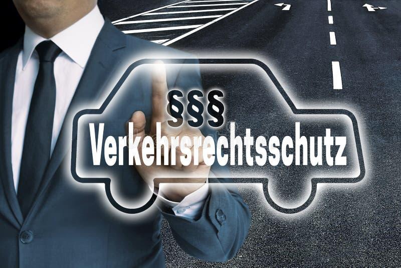 Verkehrsrechtsschutz in Duitse Bescherming van de verkeerswet C stock foto's