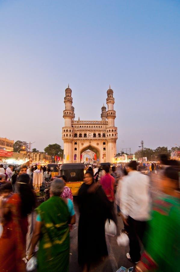 Verkehrsreiche Straßen von Hyderabad lizenzfreies stockbild