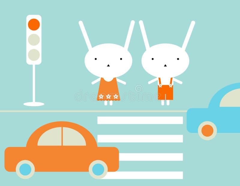 Verkehrsrichtlinien lizenzfreie abbildung