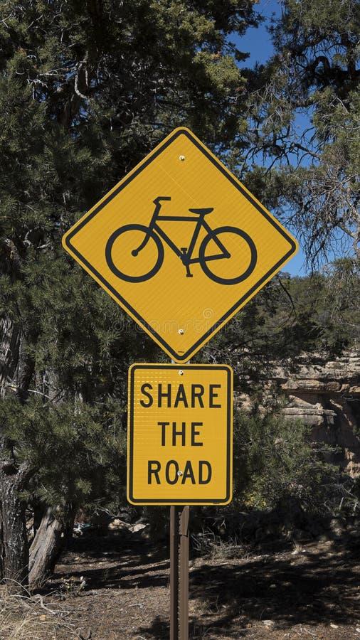 Verkehrsschild, das ` Anteil das Straße ` am Nationalpark Grand Canyon s liest, Südkante, Vereinigte Staaten stockfotos