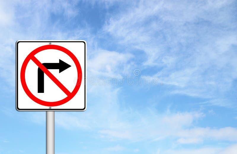 Verkehrsschild drehen sich nicht nach rechts vektor abbildung