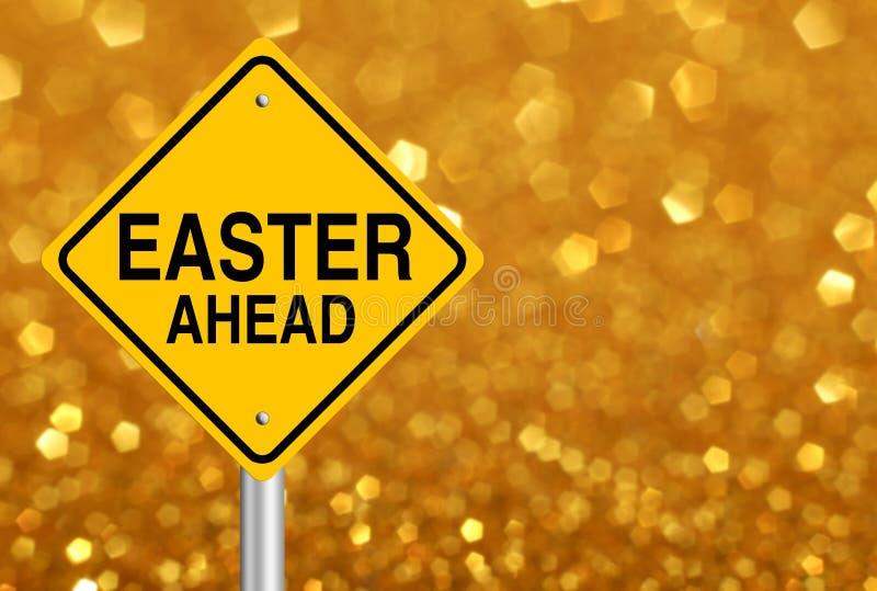 Verkehrsschild Ostern voran stockfotos