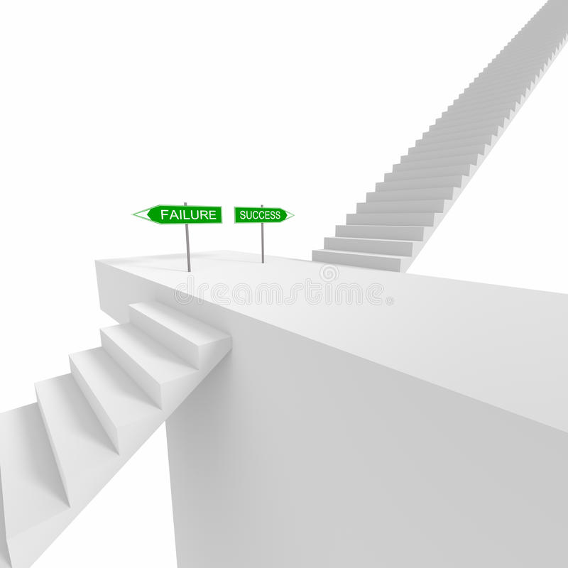 Verkehrsschild und Treppe vektor abbildung