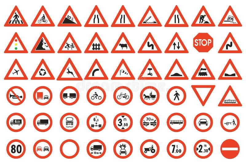 Verkehrsschilder vektor abbildung