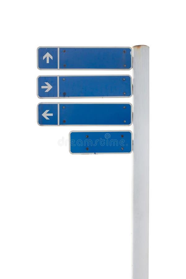 Verkehrsschilder, Verkehrsschilder oder Führerbeitrag lokalisiert auf weißem Hintergrund lizenzfreie stockfotografie