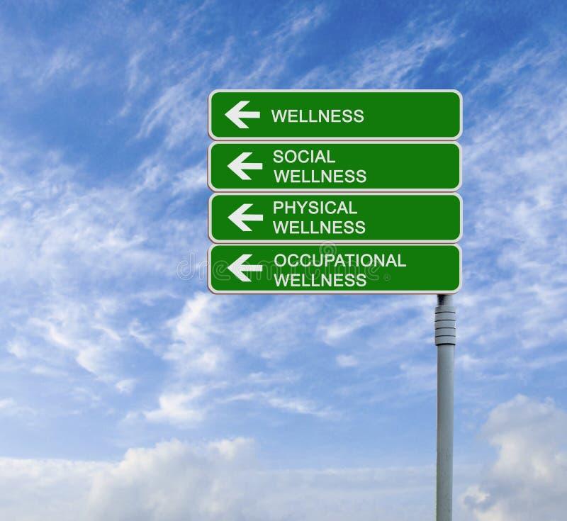 Verkehrsschilder zum Wellness lizenzfreie stockfotografie