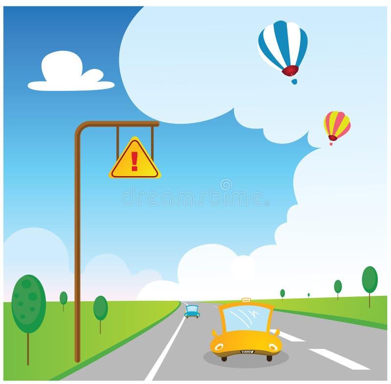 Verkehrsstraßenhintergrund lizenzfreie abbildung