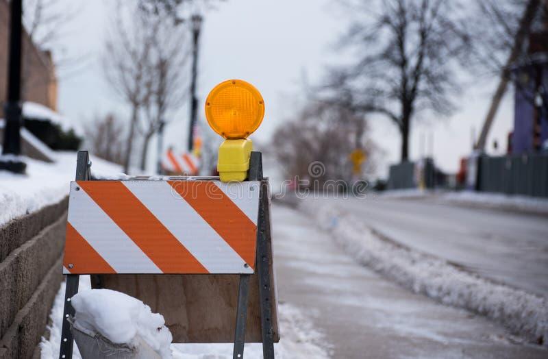Verkehrswarnungsstand lizenzfreies stockfoto