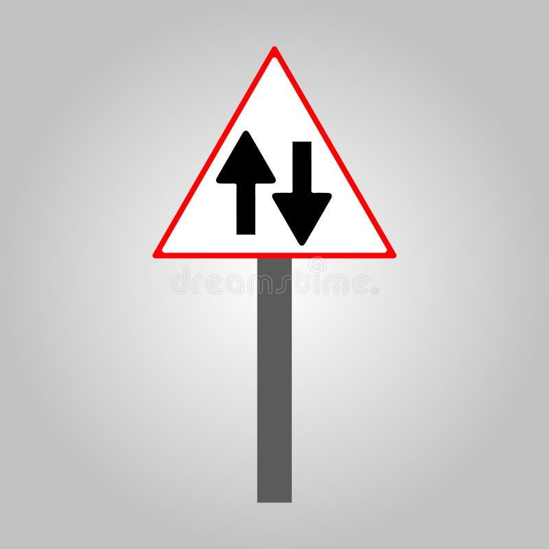 Verkehrszeichen - das gerade Zeichen und die Straße simulieren ENV 10 lizenzfreie stockfotografie