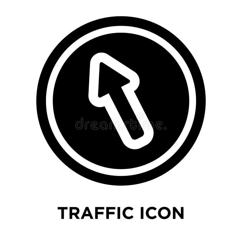 Verkehrszeichen-Ikonenvektor lokalisiert auf weißem Hintergrund, Logo Co vektor abbildung